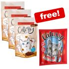 3 x 65g Catessy Crunchy Snacks + 10 Catessy Sticks Free!*